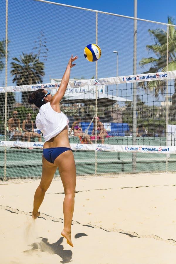 De regionale toernooien van het strandvolleyball royalty-vrije stock fotografie