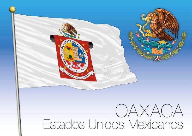 De regionale vlag van OAXACA, Verenigde Mexicaanse Staten, Mexico vector illustratie