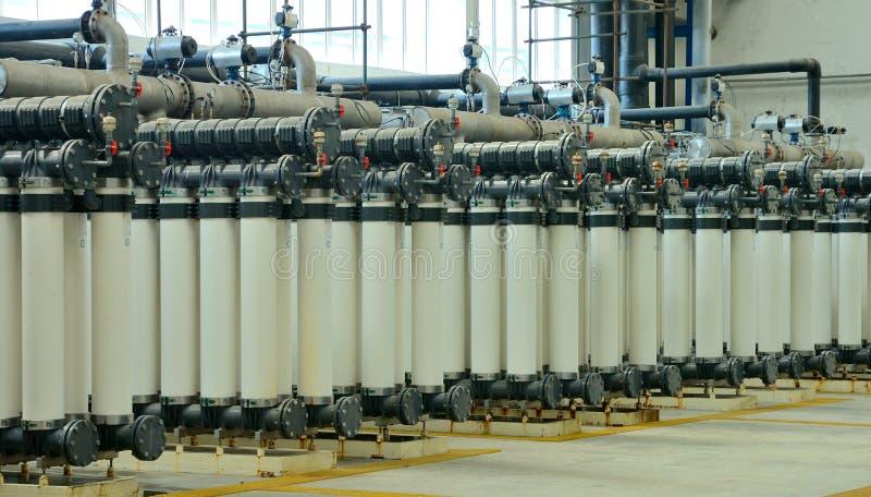 De reinigingsfabriek van het water stock afbeeldingen