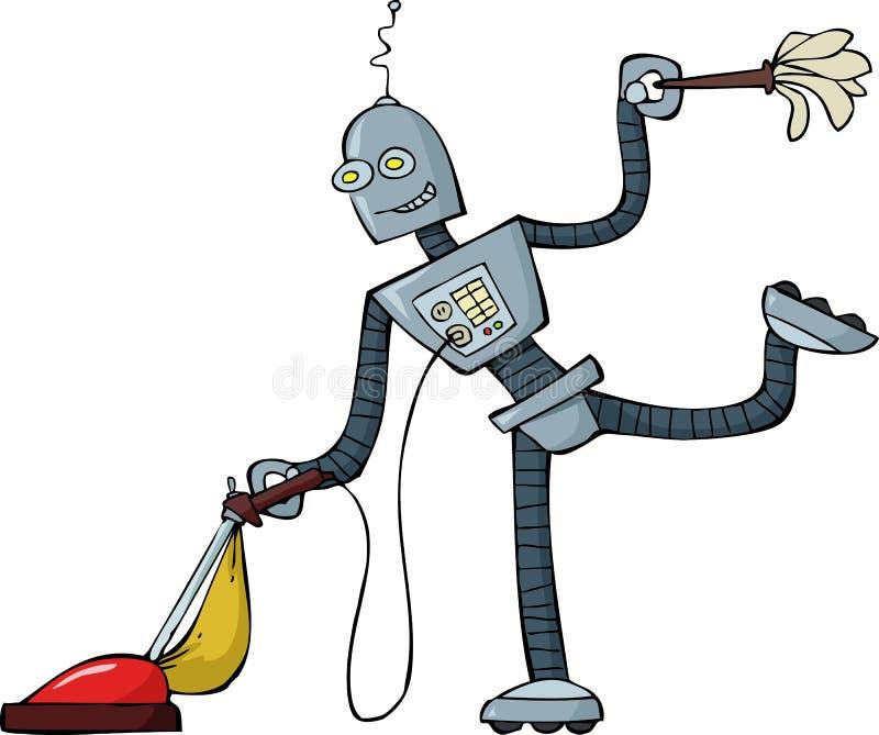 De reinigingsmachine van de robot royalty-vrije illustratie