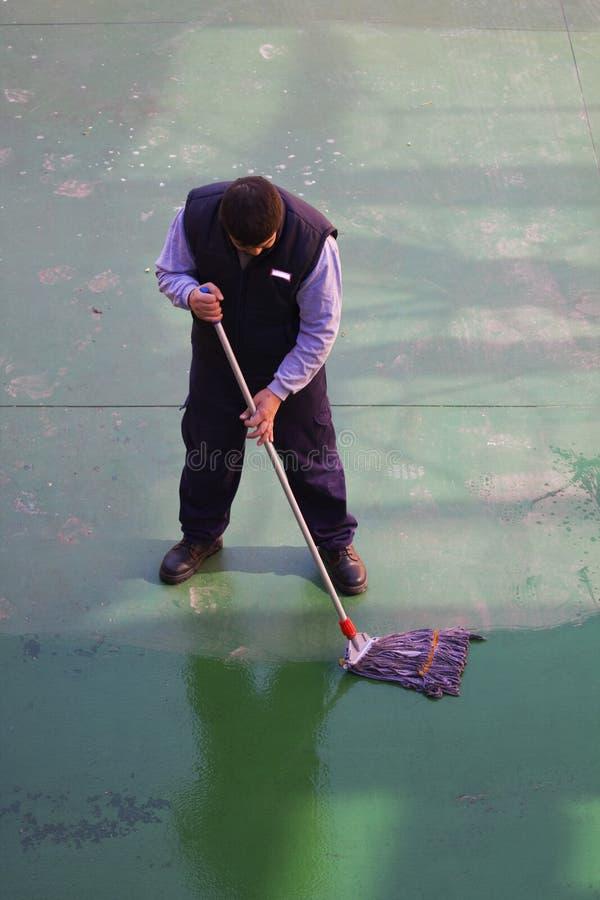 De reinigingsmachine van de vloer stock afbeeldingen