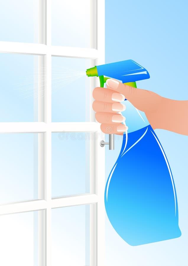 De reinigingsmachine van het venster stock illustratie