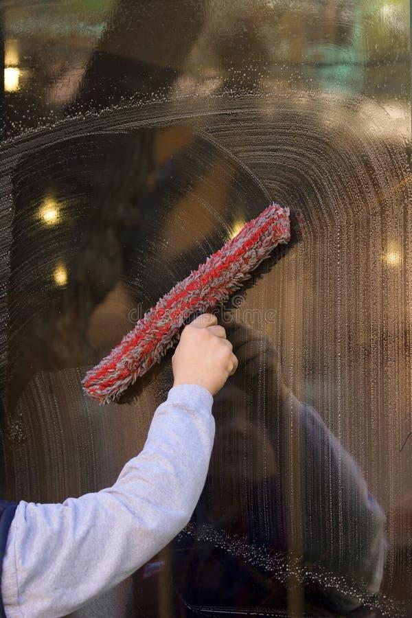 De reinigingsmachine van het venster royalty-vrije stock afbeelding