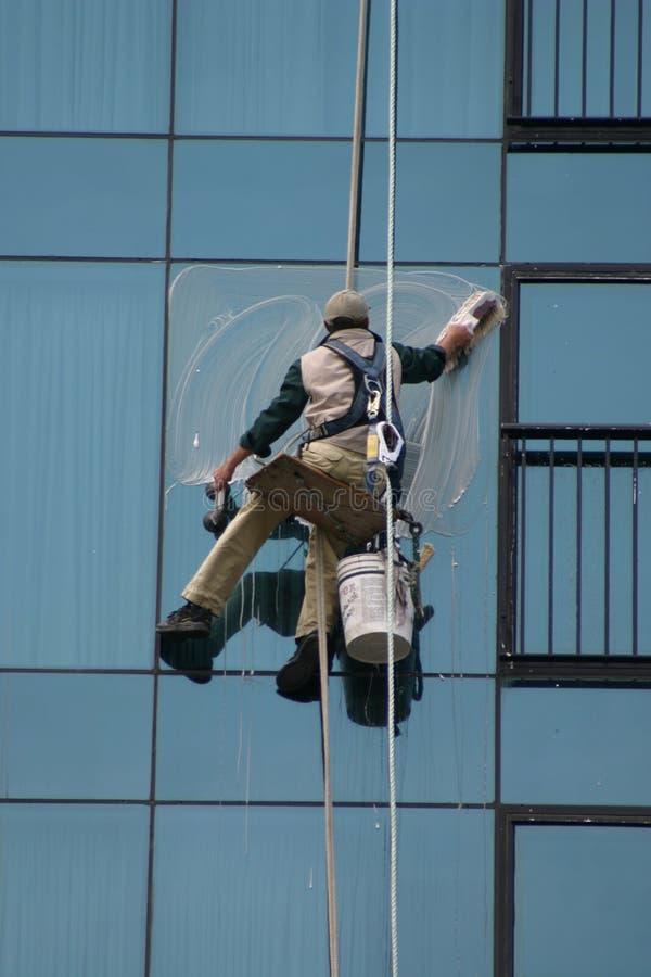 De Reinigingsmachine van het venster royalty-vrije stock foto's