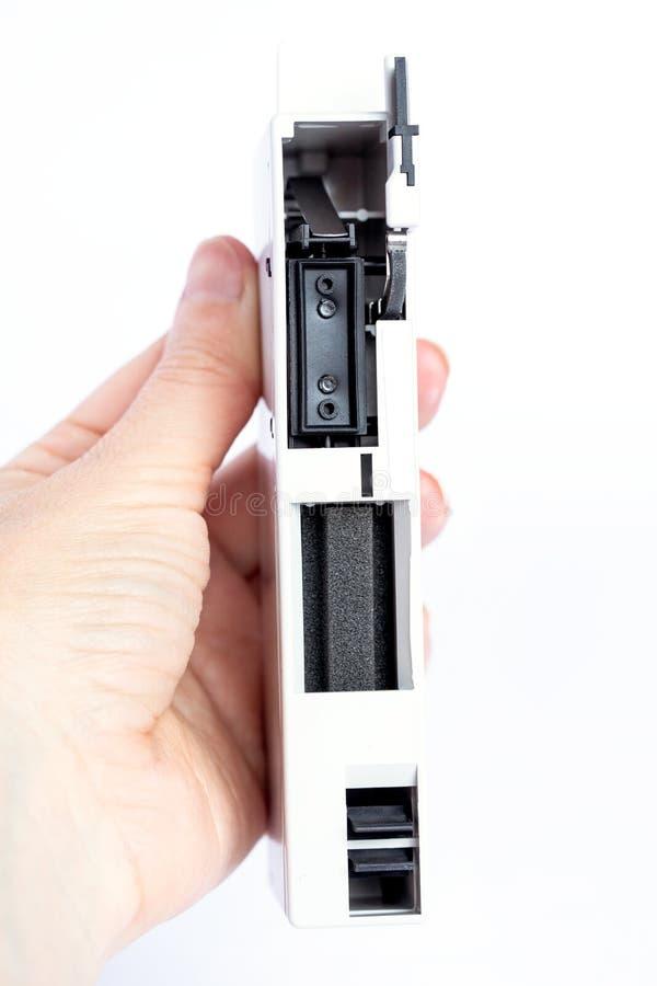 De reinigingsmachine van Hewlett Packard Printhed nieuw voor plotter stock fotografie