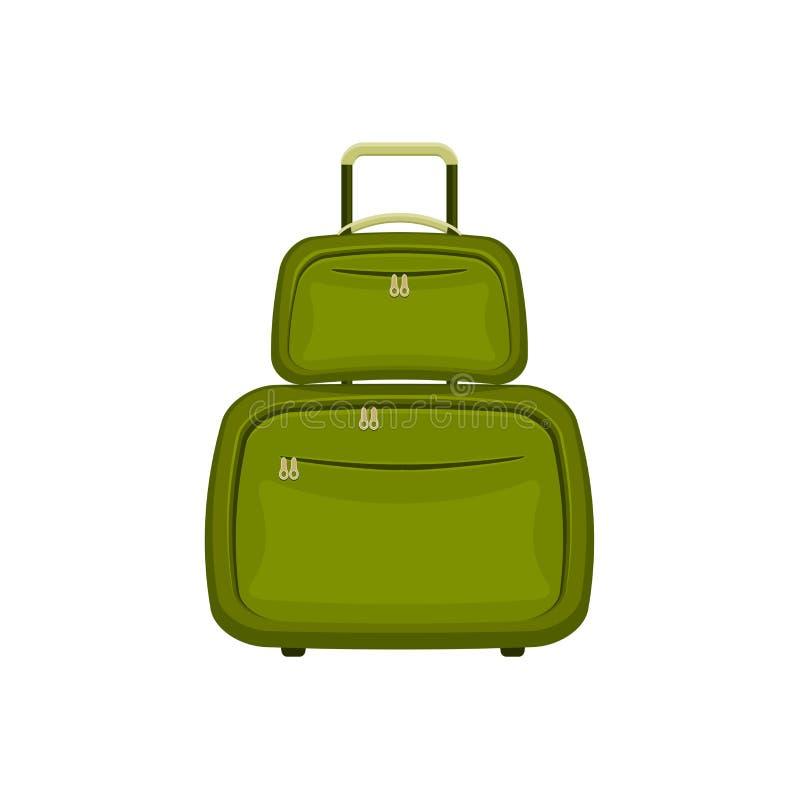 De reis doet koffers op geïsoleerde witte achtergrond in zakken vector illustratie