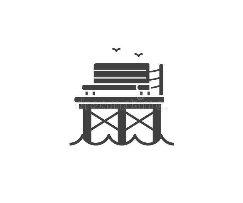 De Reis Logotype van de kustzomer vector illustratie