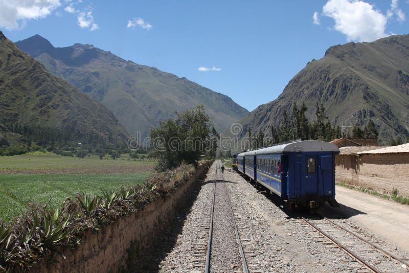 De reis per spoor in Zuid-Amerika is populair stock afbeelding