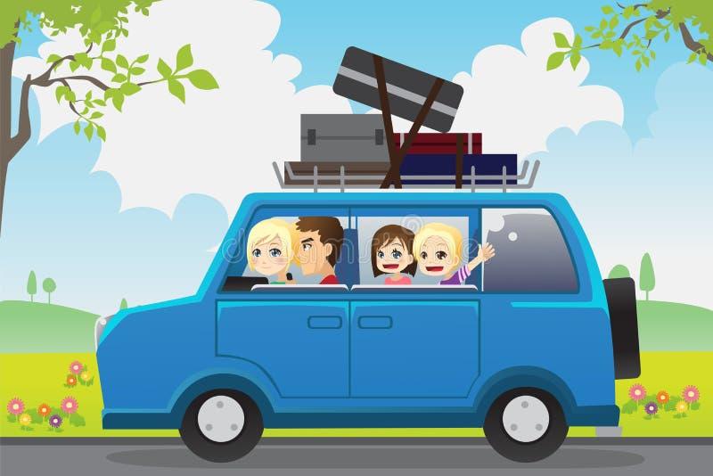De reis van de familie stock illustratie