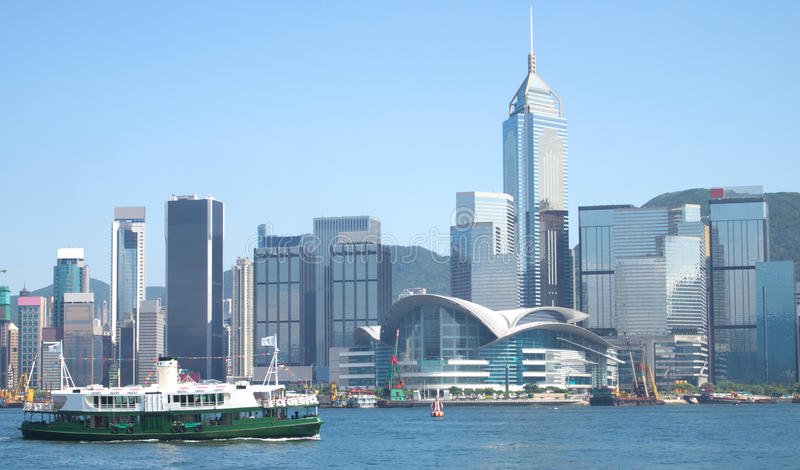 De Reis van de Haven van de Veerboot van Hongkong en van de Ster royalty-vrije stock afbeelding