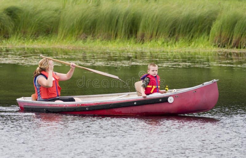 De reis van de kano royalty-vrije stock afbeelding