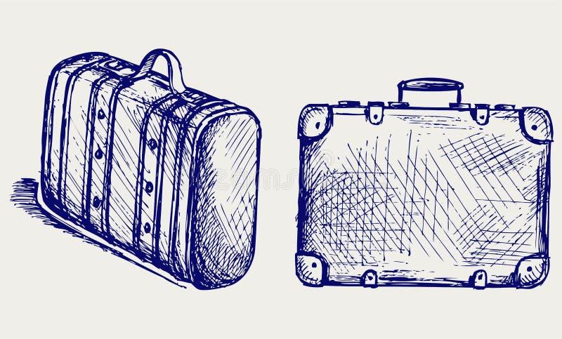 reiskoffer vector illustratie illustratie bestaande uit