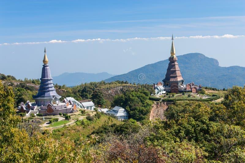 De reis van de plaatsvrije tijd, het nationale park van Doi Inthanon van Thailand royalty-vrije stock foto's
