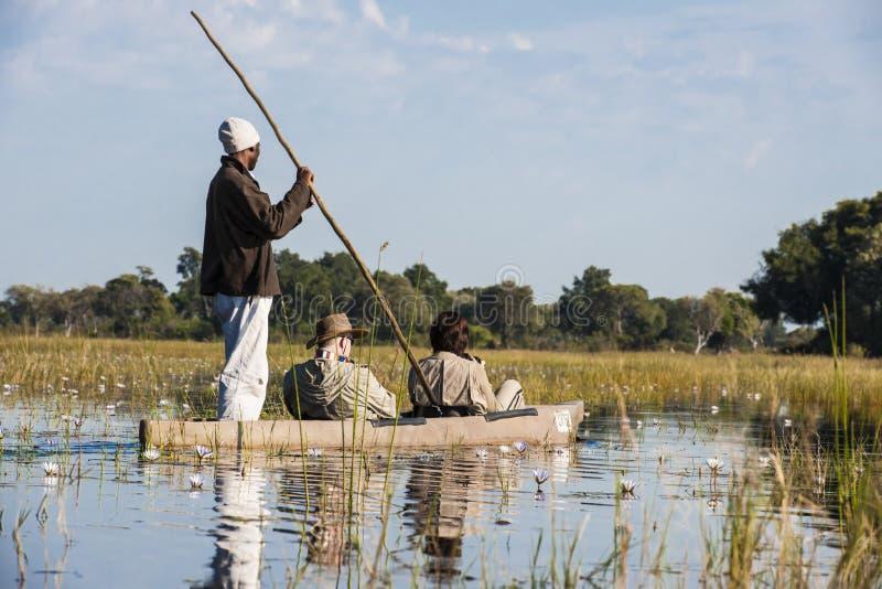 De Reis van de rivier met Dugout Kano royalty-vrije stock foto's