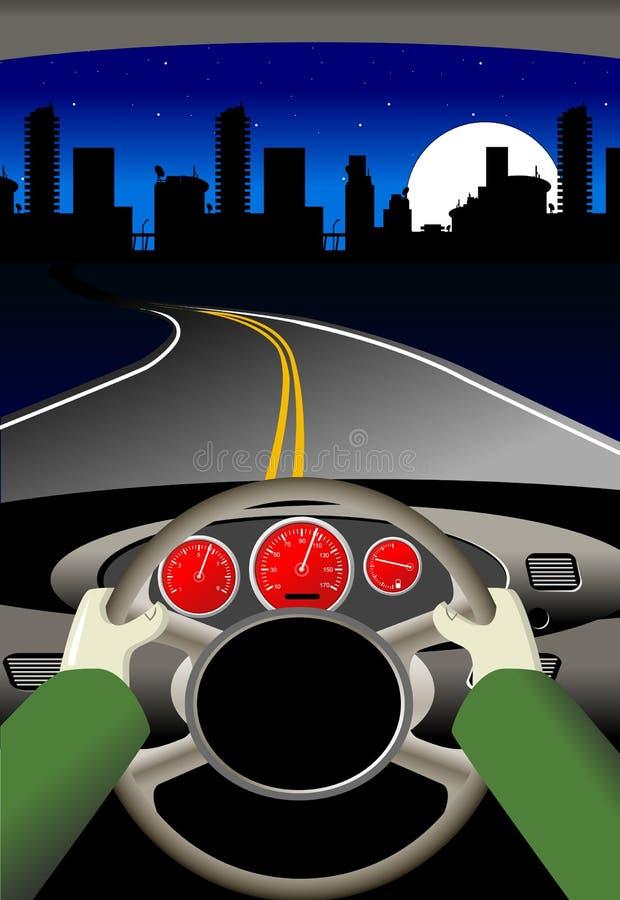 De reis van de weg vector illustratie