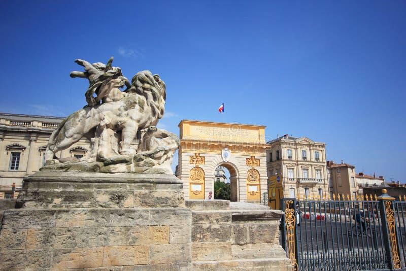 De reis van Montpellier stock afbeeldingen
