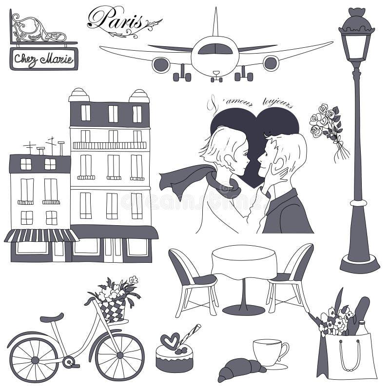 De reis van Parijs vector illustratie