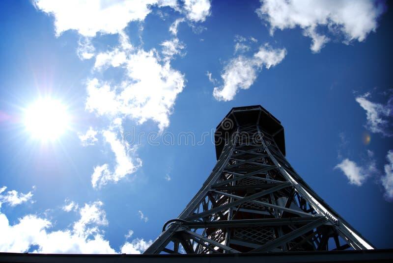 De Reis van Praag d'Eiffel stock afbeelding