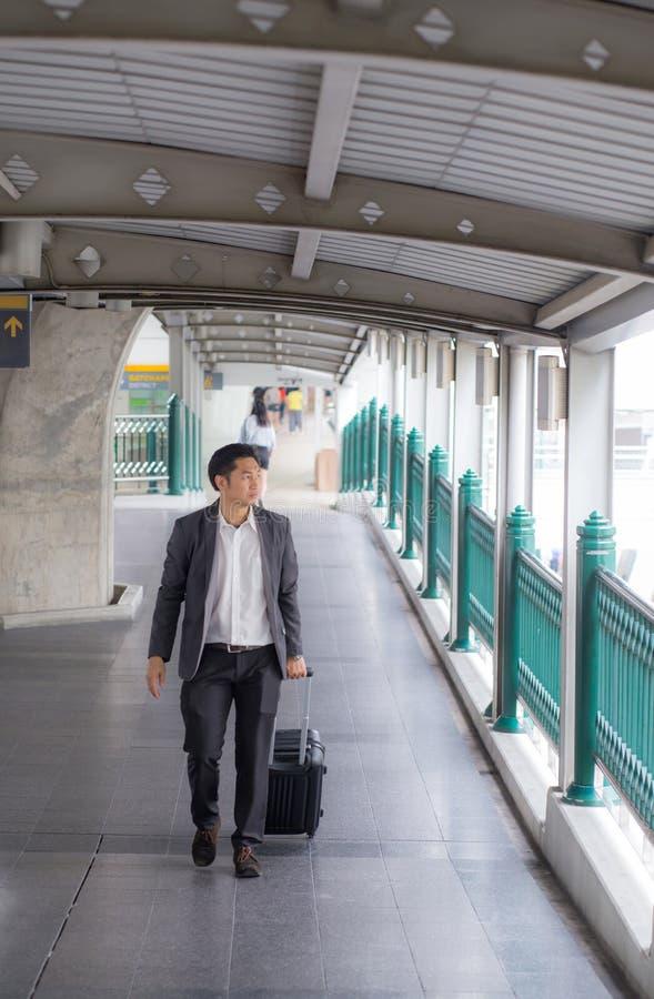 De Reis van zakenmantraveler journey business stock foto