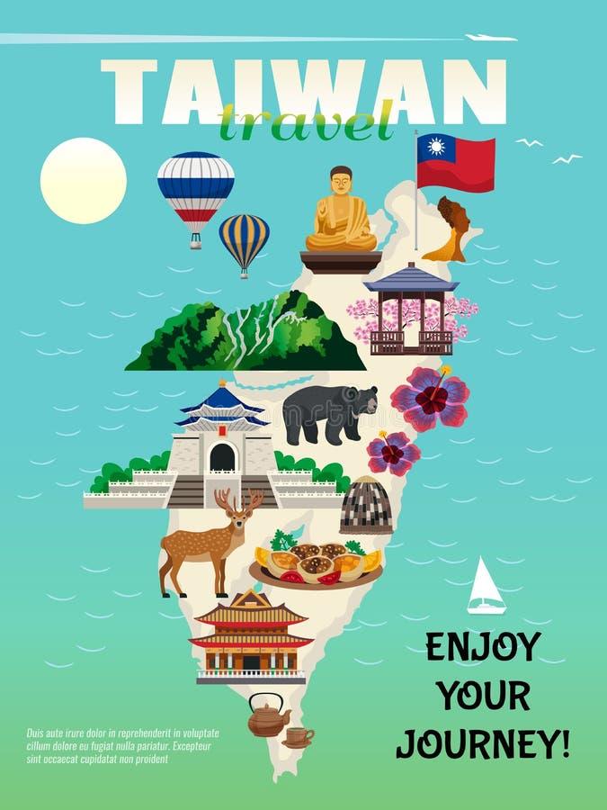 De reisaffiche van Taiwan stock illustratie