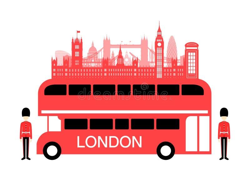 De Reisbus van Engeland stock illustratie