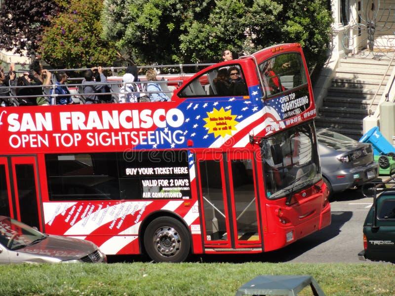 De reisbus van San Francisco stock fotografie