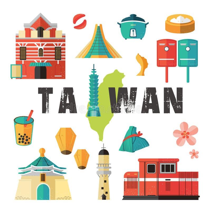 De reisconcept van Taiwan stock illustratie