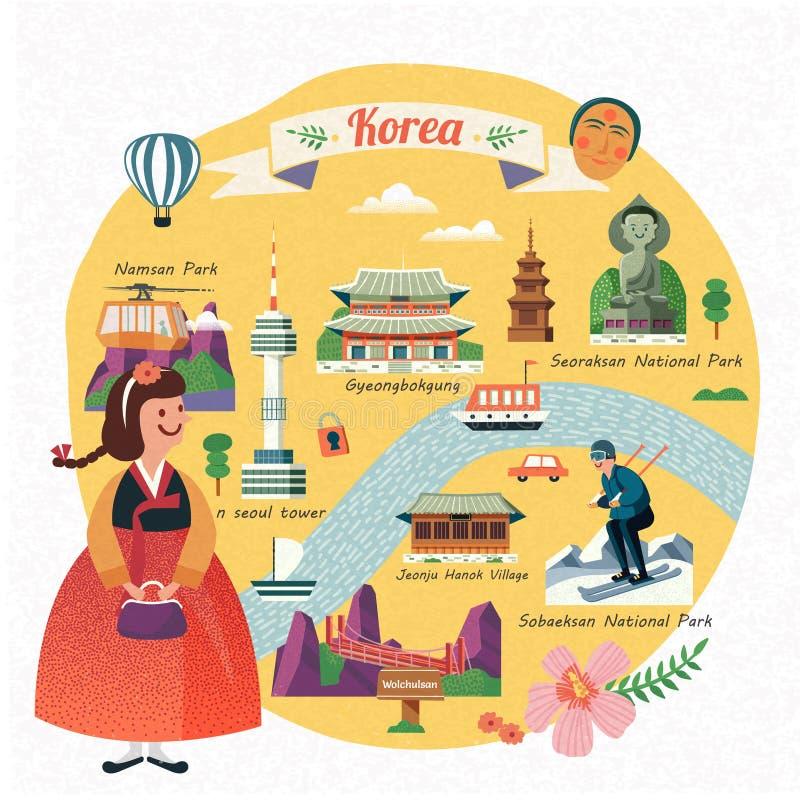 De reisillustratie van Korea royalty-vrije illustratie