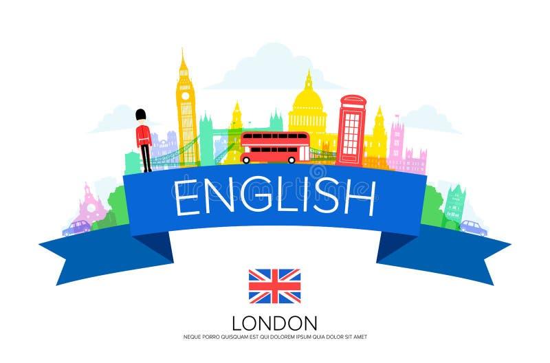 De Reisoriëntatiepunten van Engeland Londen stock illustratie