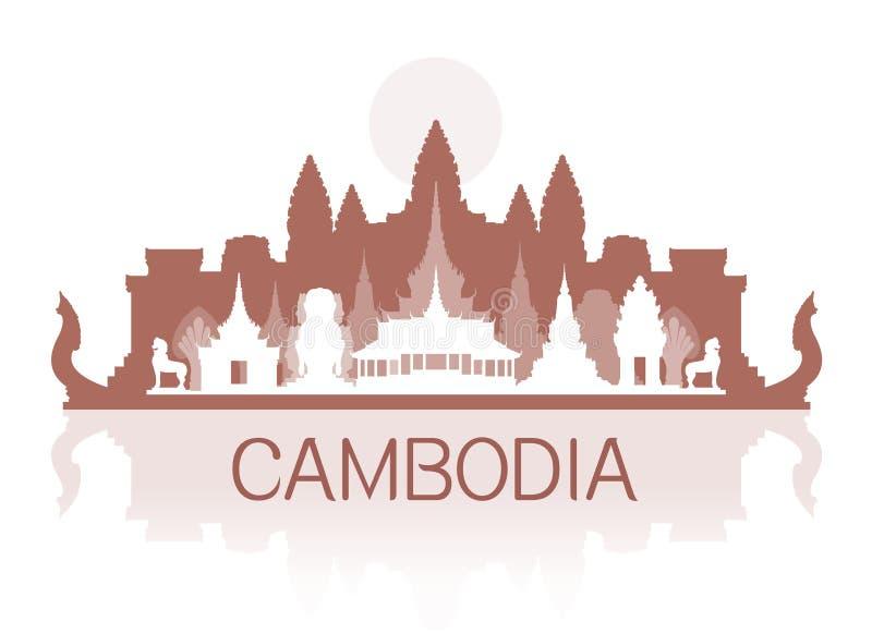 De Reisoriëntatiepunten van Kambodja royalty-vrije illustratie