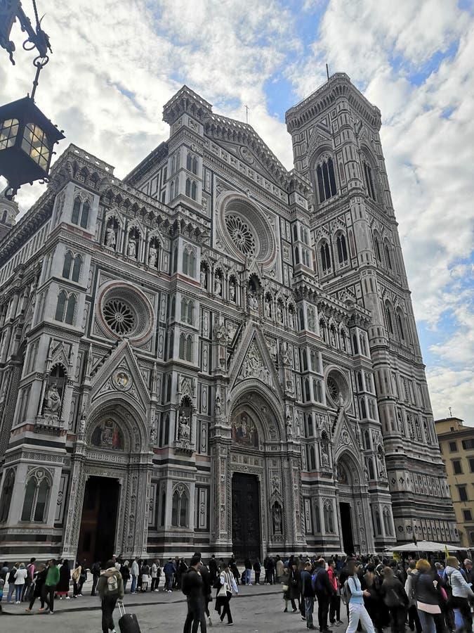 De reispiazza van Italië de architectuur van duomoitalië Florence de bouwmuseum stock afbeeldingen