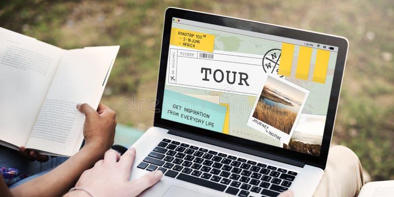 De reisreis Destinatiion onderzoekt Reisconcept stock afbeeldingen