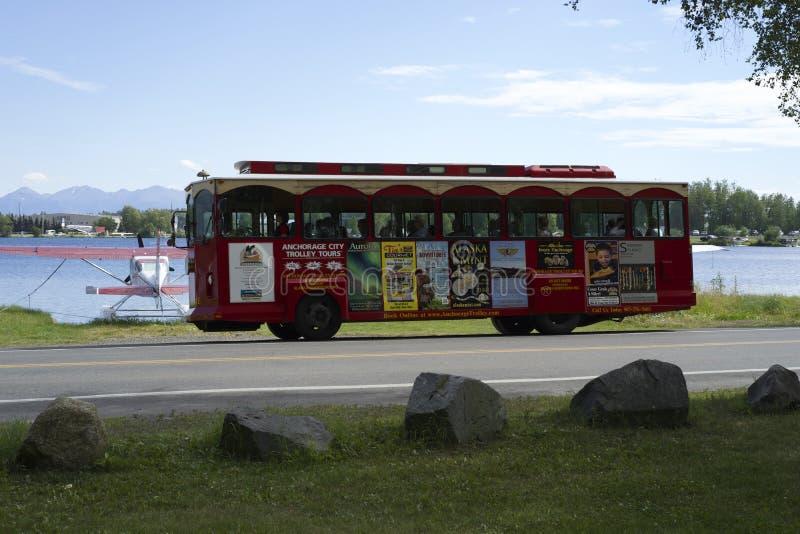 De Reizen van het de Stadskarretje van Anchorage stock foto