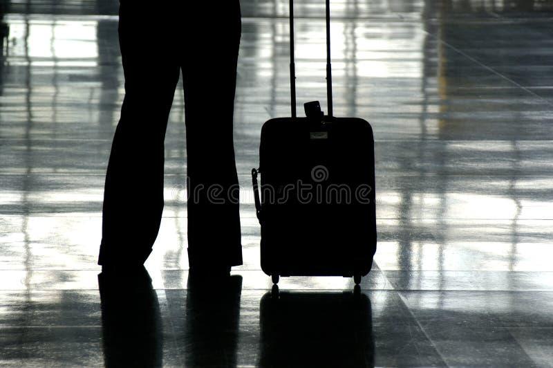 De Reiziger van de luchthaven stock afbeeldingen