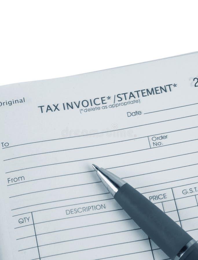 De rekening van de belasting royalty-vrije stock foto's