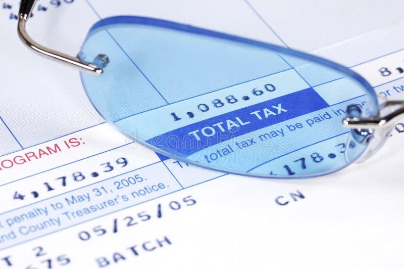 De Rekening van de belasting stock afbeelding