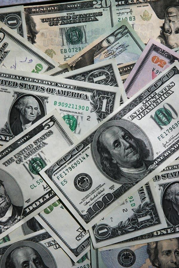 De rekeningen van de achtergrond dollar close-up royalty-vrije stock foto