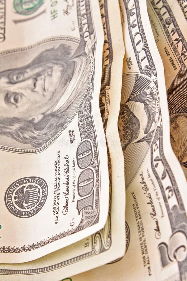De rekeningen van de dollar royalty-vrije stock foto