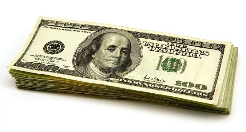De Rekeningen van honderd Dollars stock foto