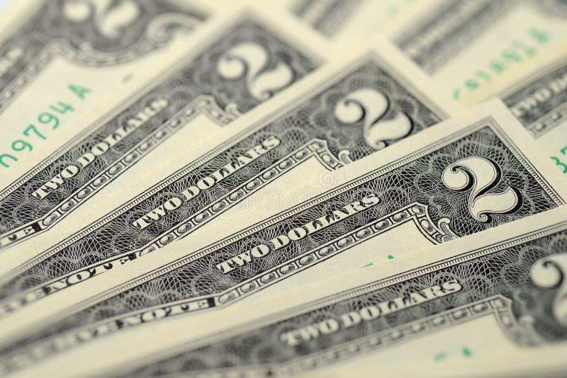 De Rekeningen van twee Dollars royalty-vrije stock fotografie