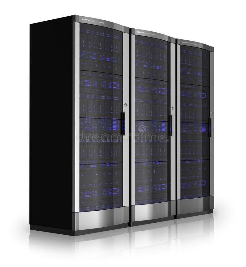 De rekken van de server stock illustratie