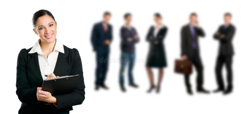De rekrutering van de baan royalty-vrije stock afbeeldingen