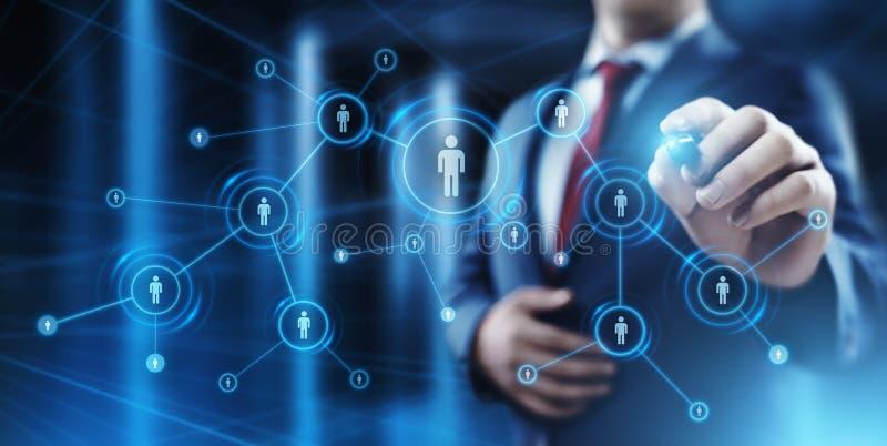 De Rekruteringswerkgelegenheid die van het personeelsu beheer Concept koppensnellen stock afbeelding