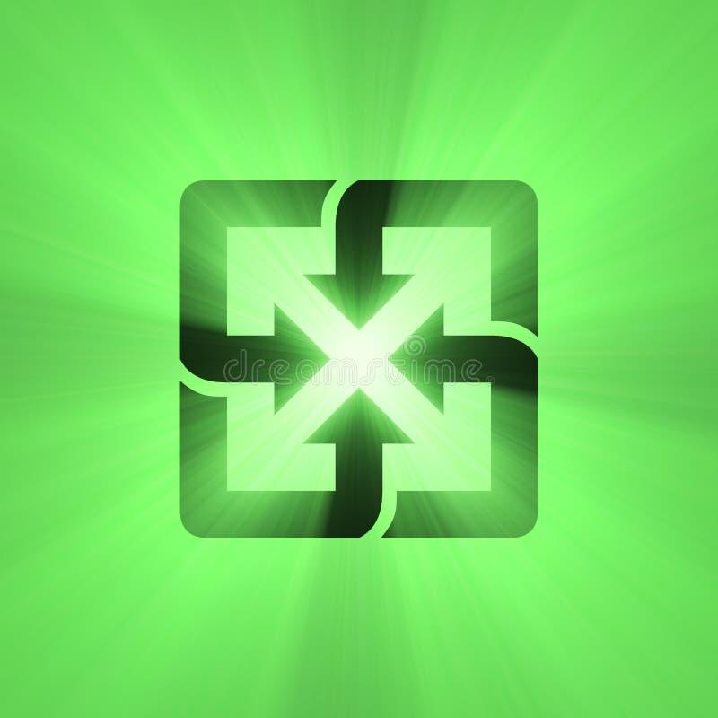 De rekupereerbare gloed van het teken groene licht stock illustratie