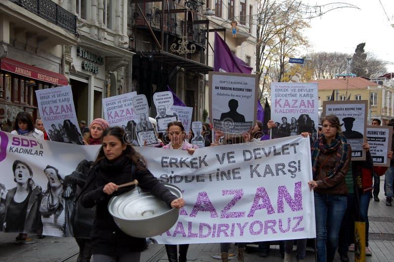 De rellen in Istanboel royalty-vrije stock fotografie