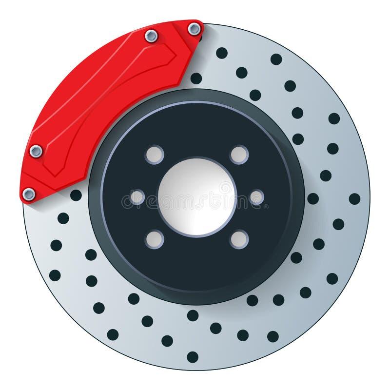 De rem van de autoschijf vector illustratie