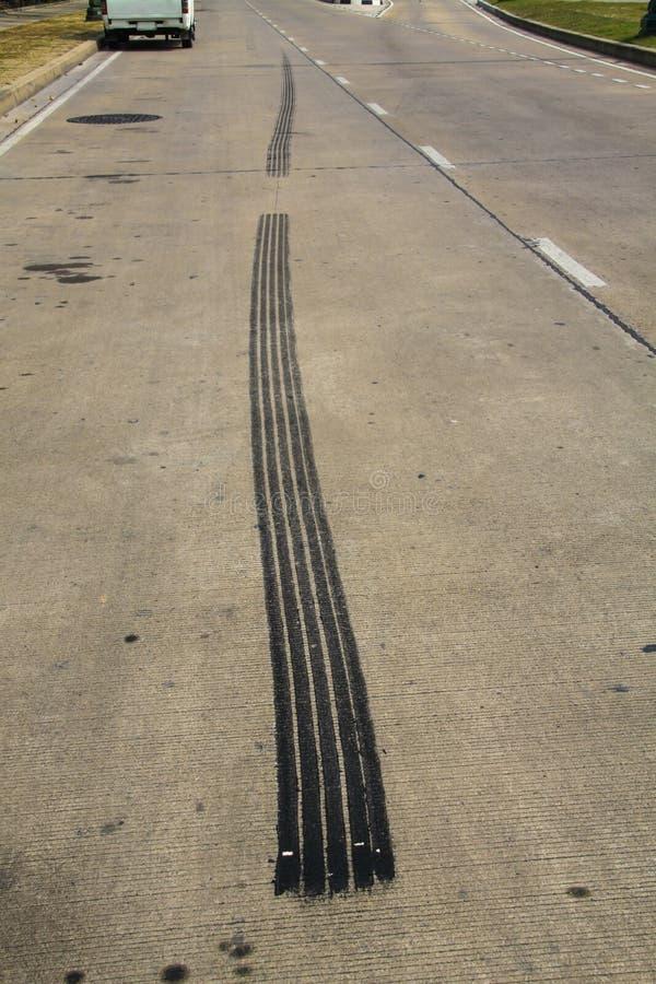 De rem van de spoorband stock foto