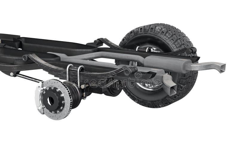 De rem van het chassiskader, dichte mening stock illustratie