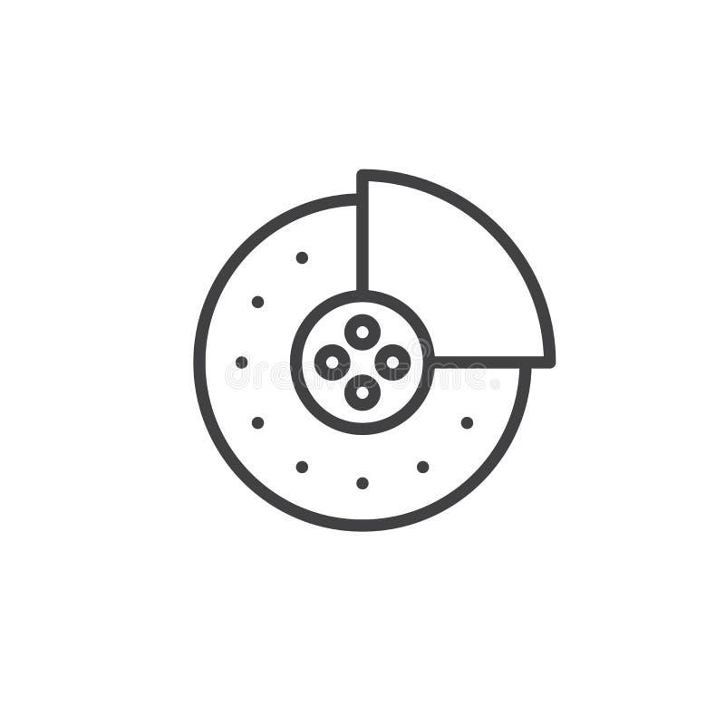 De rem vult lijnpictogram op stock illustratie