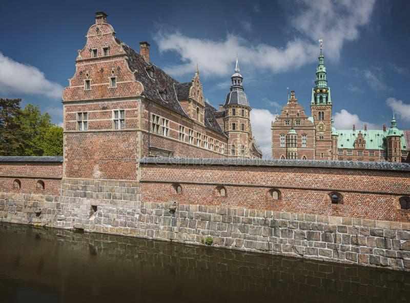 De renaissancekasteel Hillerod van Frederiksborg stock foto